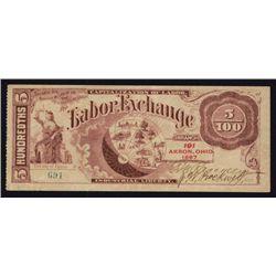 Akron, Ohio Labor Exchange Note.