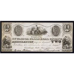 Cuyahoga Falls Real Estate Association, Obsolete Banknote.