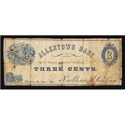Allentown Bank Scrip Note.