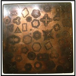 Cycloid Designs for counters and borders on Copper Plate.