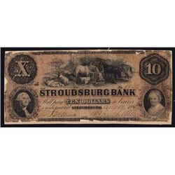 Stroudsburg Bank Obsolete Banknote, Haxby Listed SENC.
