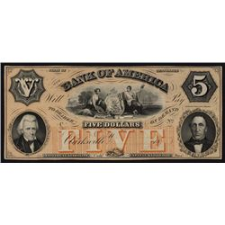 Bank of America, Clarksville Tennessee Obsolete Banknote.