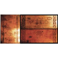 Nashville Bank at Winchester 1820's Copper Printing Plate Engraved By William Kneass, Chief Engraver