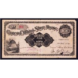 General Tithing Store Mormon Scrip Note.