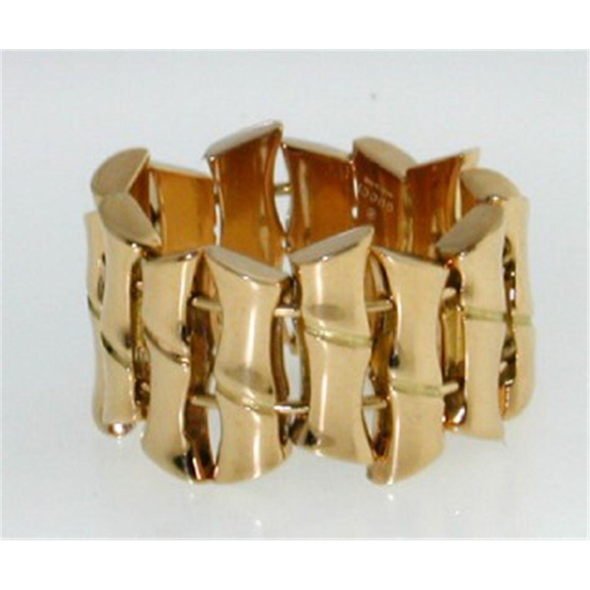 f148f4222 Gucci 18K Yellow Gold Bamboo Ring.