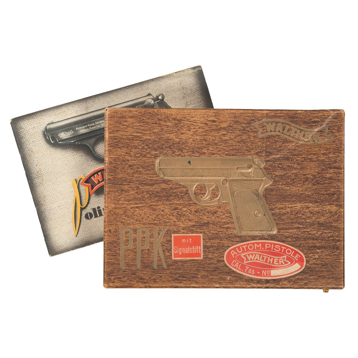 Pre War Walther PPK Box with Manual Tin Rare Box Magazine and Cartridges