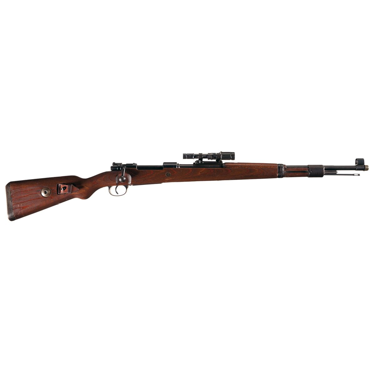Very Rare WWII Mauser/Gustloff Rare Dual Code BCD/AR 43 K98 Bolt Action  Rifle with Leather Sling, Sc