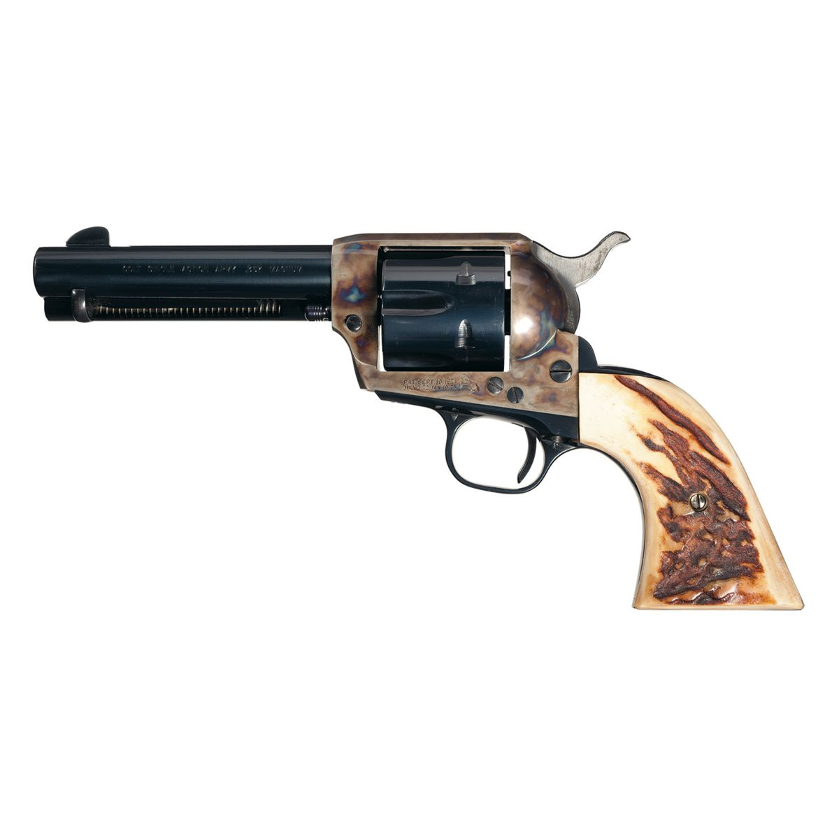 Excellent Colt Second Generation Single Action Army Revolver in 357 Magnum  with Stag Grips