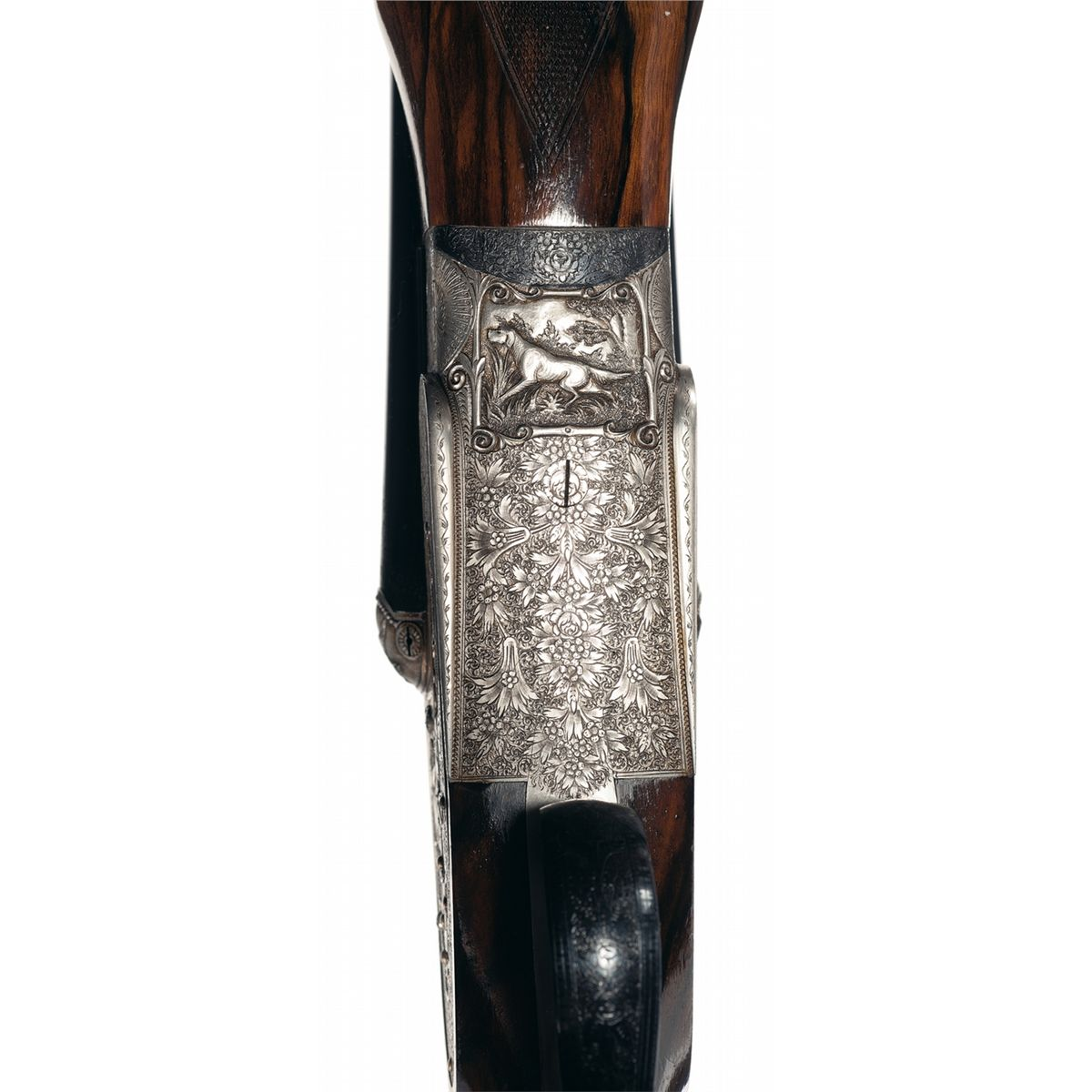 Engraved Gold Inlaid Factory Custom Made Presentation AYA Model 10-89  Magnum Side Lock 10 Gauge Doub