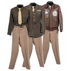 World War II Painted  Hump Pilot  China-Burma-India Theater Type A-2 Flight Jacket with Uniform