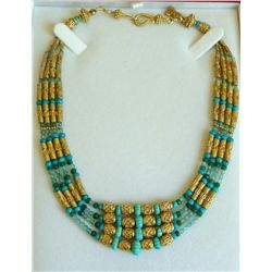Four strand Hellenic style necklace