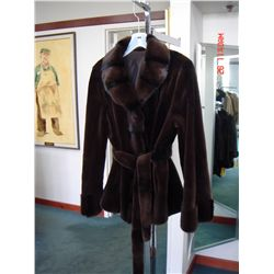 Luscious Brown/Black Sheared Mink Jacket