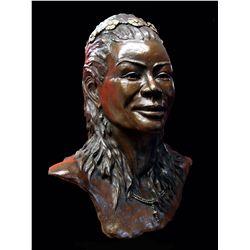 """Malkia Wa Ki Afrika"" bronze life-sized bust"