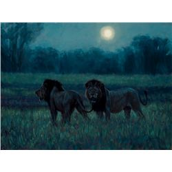 """Night Watchmen"" original oil by John Banovich"