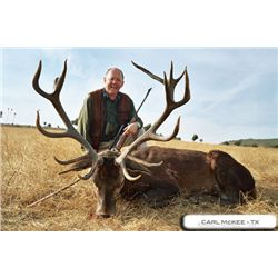 4-day Spanish Red Deer hunt for one hunter in Spain - includes trophy fees