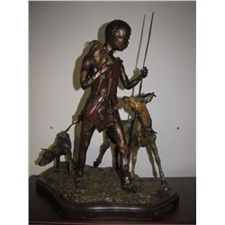 "Bronze Sculpture - ""Bringing the Little One Home"""