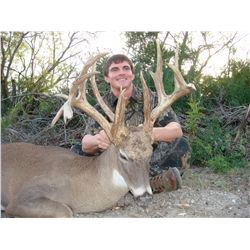 3-day whitetail deer hunt for two hunters in Texas - includes trophy fees