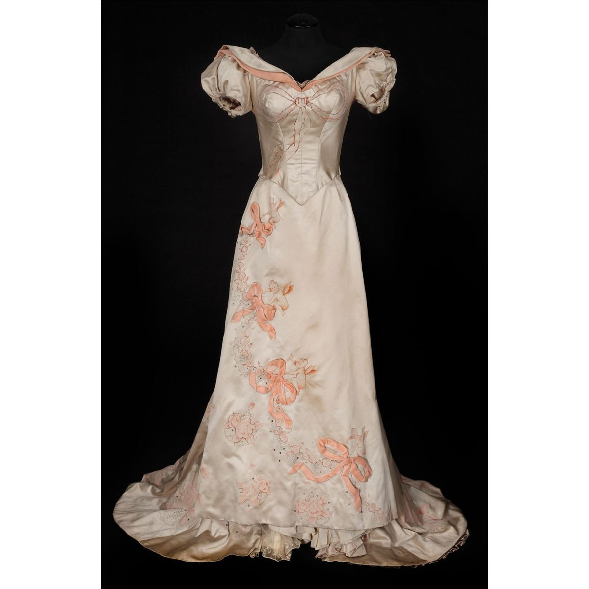 """1461a982a6d Image 1   Joan Fontaine """"Ivy Lexton"""" ivory satin ball gown designed by Orry  ..."""