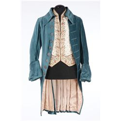 Ryan O'Neal period teal coat and vest & Marisa Berenson green silk period ballgown from Barry Lyndon