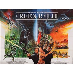 Return of the Jedi original French 2-panel poster folded