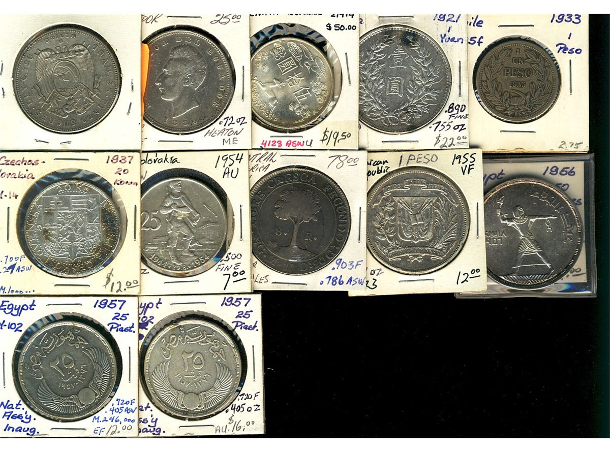 World Crowns & Coinage  Includes Czechoslovakia 1954 25