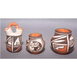 Three Acoma mini pots