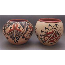 two Jemez pottery bowls