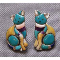Navajo/Zuni silver earrings