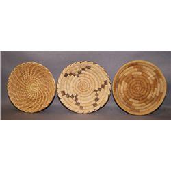 3 Papago basketry trays
