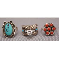 2 Navajo silver pins
