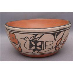 Santo Domingo pottery chili bowl