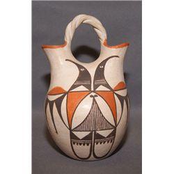 Acoma pottery wedding vase