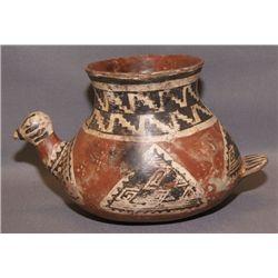 Tonto pottery bird effigy