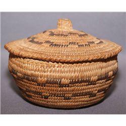 Pima lidded basket