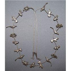 Navajo silver fetish necklace