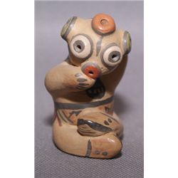 Santa Clara pottery figure