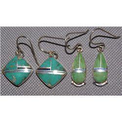 2 Navajo pairs of earrings