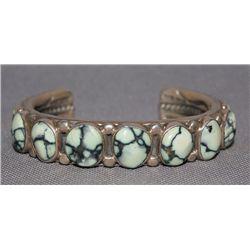 Navajo heavy silver bracelet