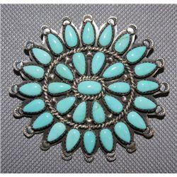 Navajo/Mexico silver pin