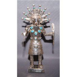Navajo silver statue
