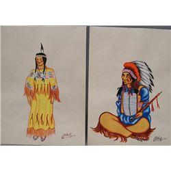 2 plains watercolors