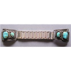 Zuni silver watchband