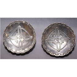2 Navajo silver dishes