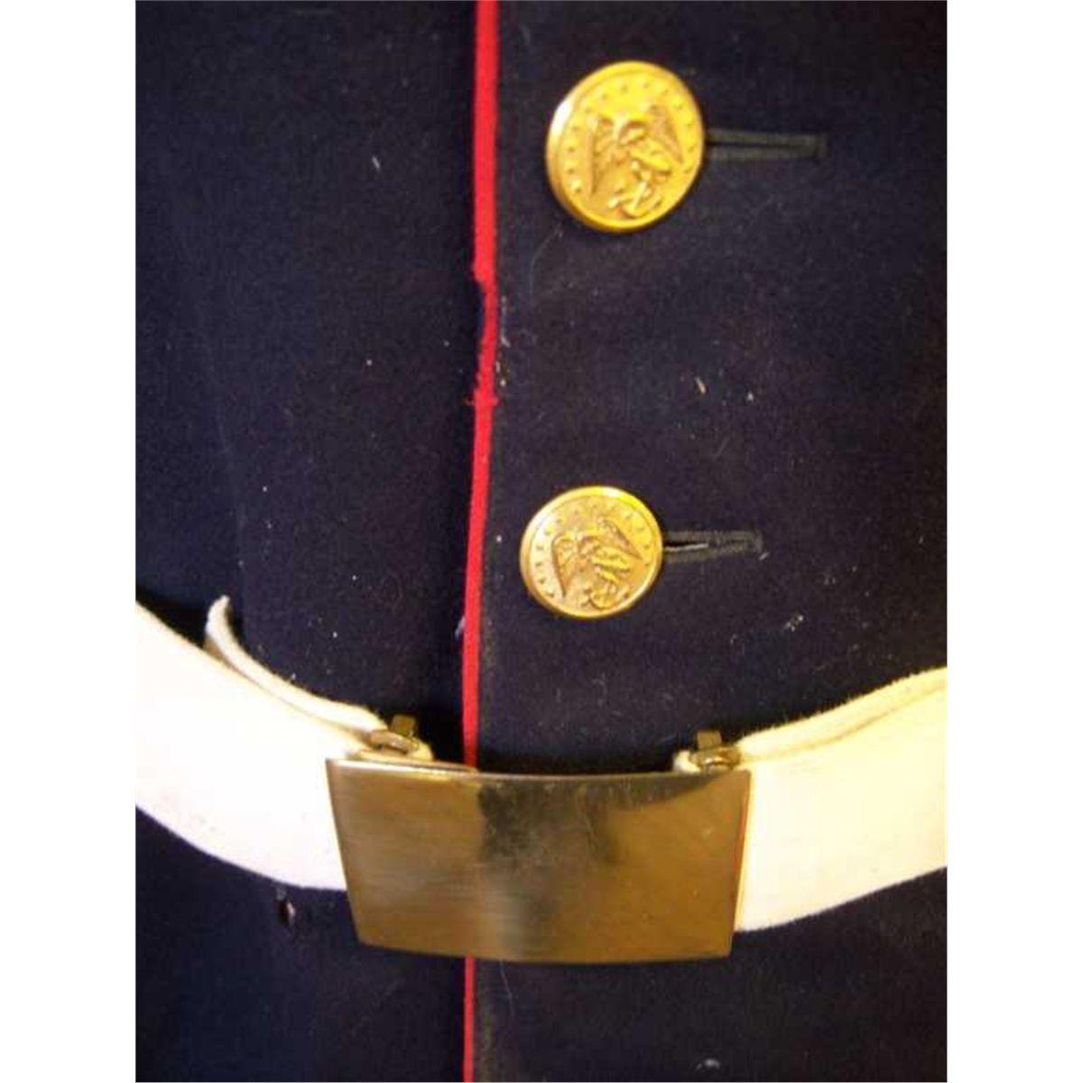 1918 WWI USMC Dress Uniform, Has Moth Damage Has USMC 1st Marine Division  Guadacanal Patches (H H  V