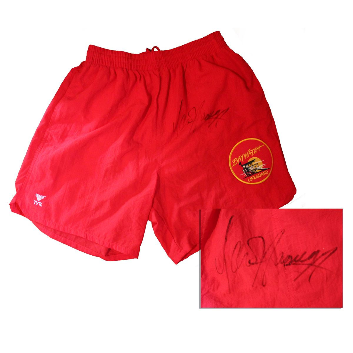 d99b75205b2 Image 1   Hasselhoff Signed   Baywatch   Trunks