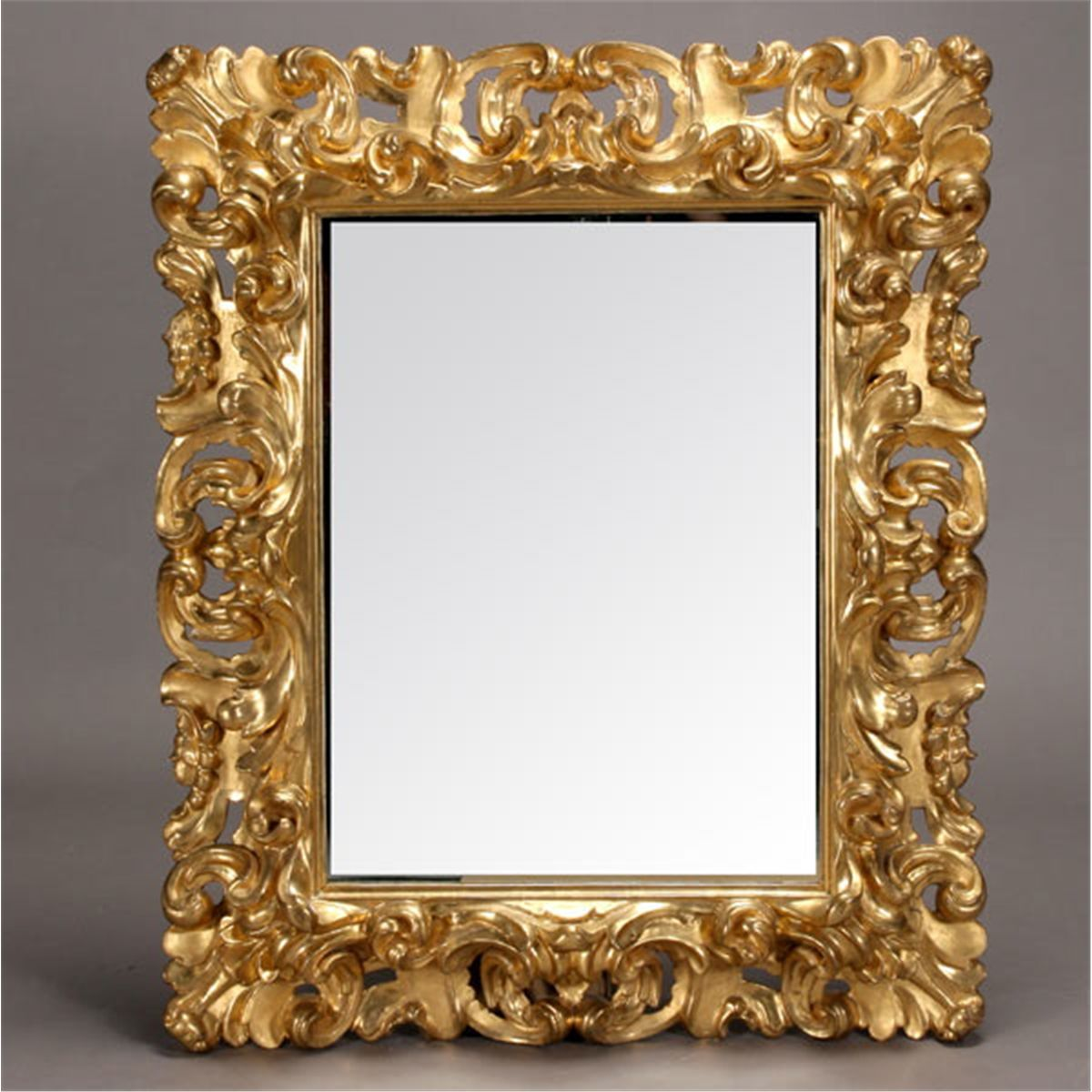 Italian Baroque Style Gilt And Gessoed Mirror