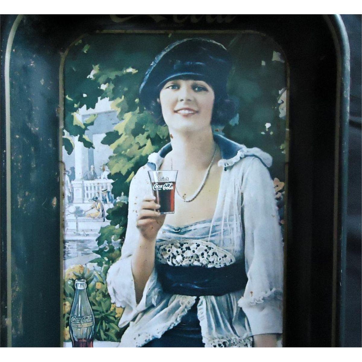 1973 Coca Cola Tray From A 1921 Coca Cola Adver