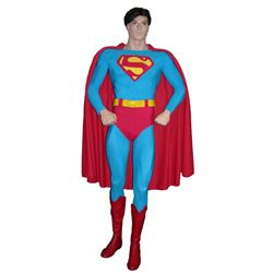Screen Worn Christopher Reeve Superman Costume from Superman: The Movie and Superman II on Figure