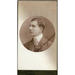 Bela Lugosi original ca. 1905 Hungarian cabinet portrait from his estate