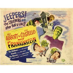 Abbott and Costello Meet Frankenstein original Title-card from the Bela Lugosi family collection